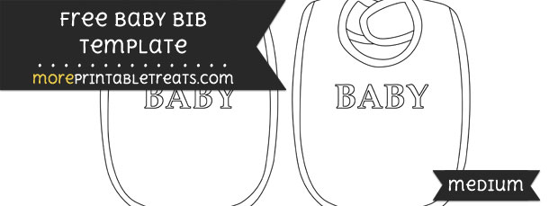 Baby Bib Template – Medium