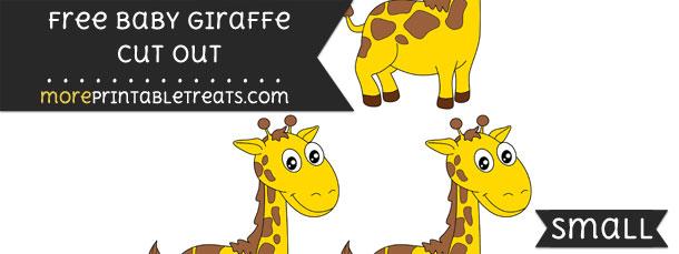 Baby Giraffe Cut Out – Small
