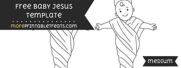 baby jesus template medium