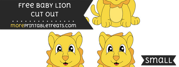 Baby Lion Cut Out – Small