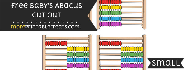 Babys Abacus Cut Out – Small