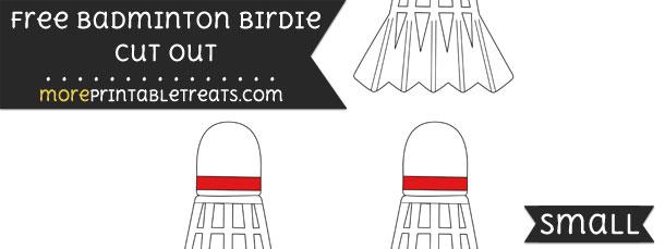 Badminton Birdie Cut Out – Small