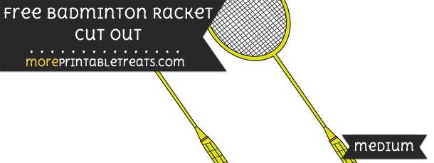 Badminton Racket Cut Out – Medium
