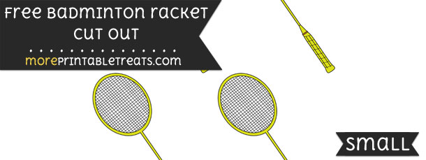 Badminton Racket Cut Out – Small