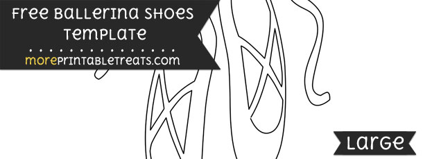 ballerina shoes template large