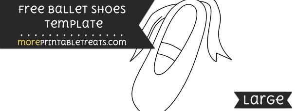 Ballet Shoes Template – Large