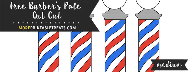 Barber's Pole Cut Out – Medium