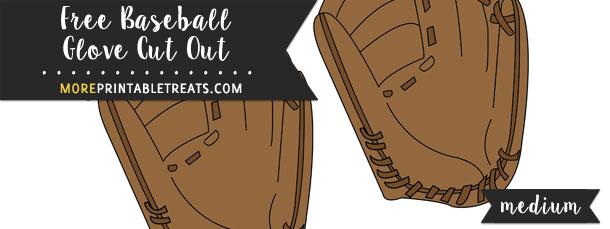 Baseball Glove Cut Out – Medium