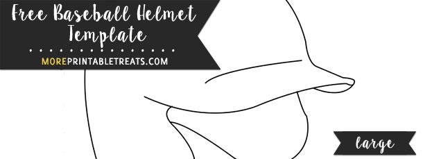 Baseball Helmet Template Large