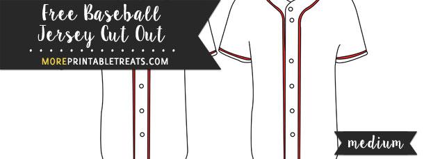 Baseball Jersey Cut Out – Medium