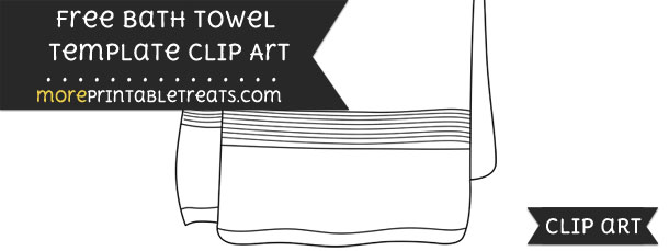 bath towel template clipart. Black Bedroom Furniture Sets. Home Design Ideas