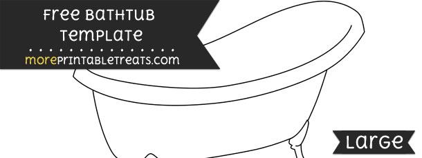 Bathtub Template – Large