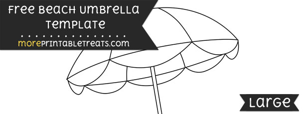 Beach Umbrella Template  Large