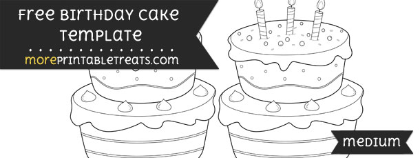 Birthday cake template medium pronofoot35fo Choice Image
