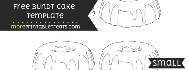 bundt cake template  u2013 small