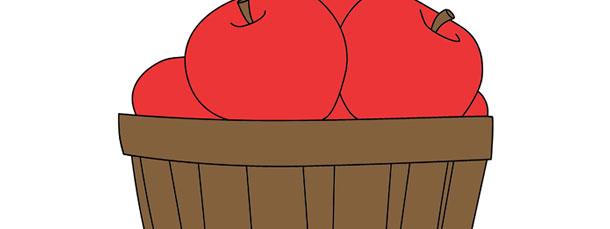 Bushel Of Apples Cut Out