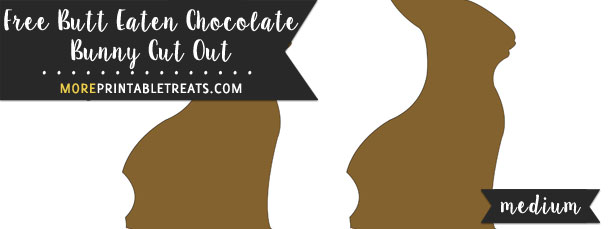 Butt Eaten Chocolate Bunny Cut Out – Medium