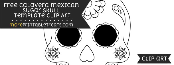 Calavera mexican sugar skull template clipart pronofoot35fo Images