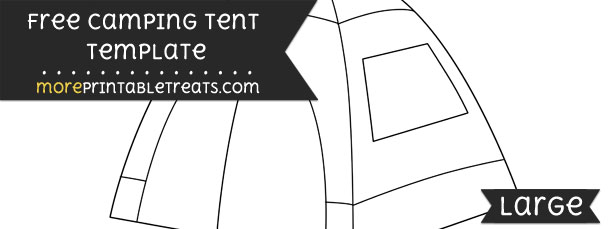 sc 1 st  More Printable Treats.com & Camping Tent Template u2013 Large