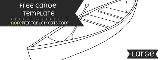 canoe template  u2013 large