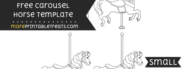 Carousel Horse Template – Small
