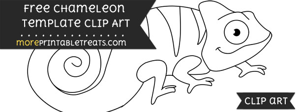 image relating to Chameleon Template Printable named Chameleon Template Clipart