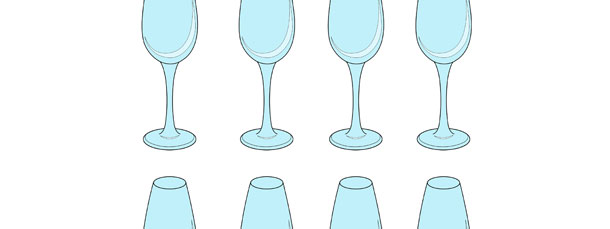 Champagne Flute Cut Out – Small
