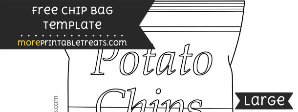 Chip Bag Template Large