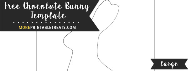 Chocolate Bunny Template – Large