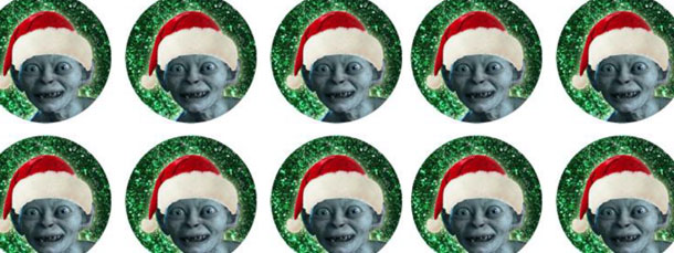 Christmas Gollum 2-Inch Circle Tags