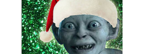Christmas Gollum Printable