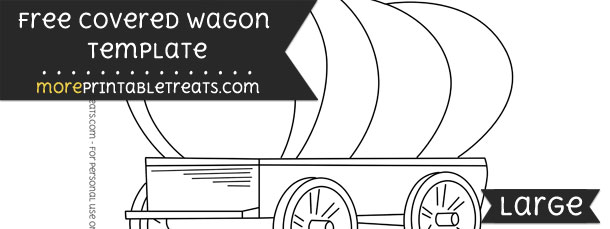 85  covered wagon template