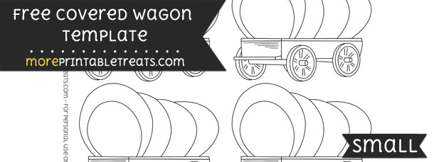 Covered Wagon Template – Small