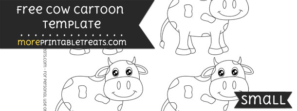 Cow Cartoon Template – Small