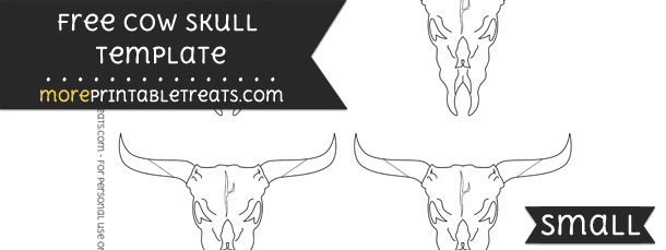 Cow Skull Template – Small
