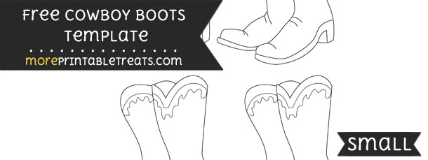 Cowboy Boots Template – Small