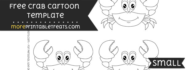 Crab Cartoon Template – Small