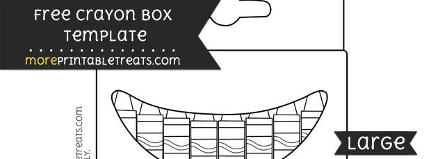 Crayon Box Template – Large
