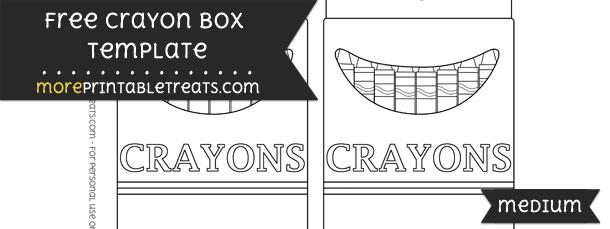 Crayon Box Template – Medium