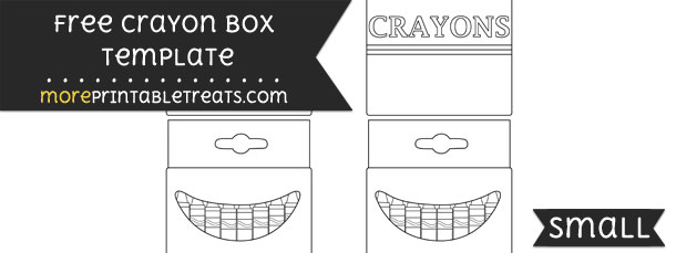 Crayon Box Template – Small