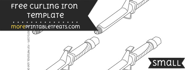 Curling Iron Template – Small