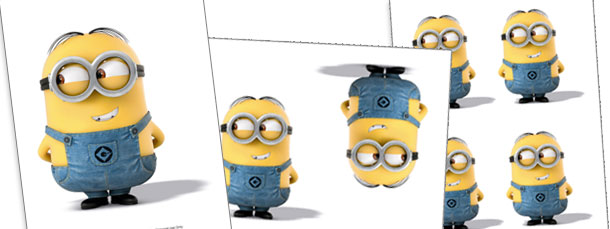 Dave from Minions Cut Outs