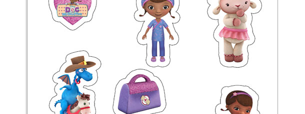 DIY Doc McStuffins Stickers