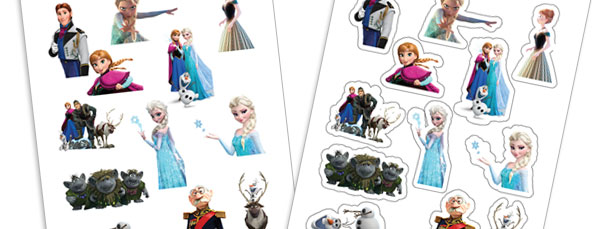 DIY Frozen Stickers