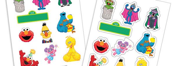 DIY Sesame Street Stickers