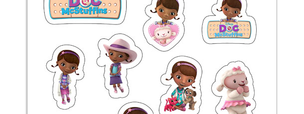 photo relating to Doc Mcstuffins Printable Labels referred to as Document McStuffins Printable Stickers