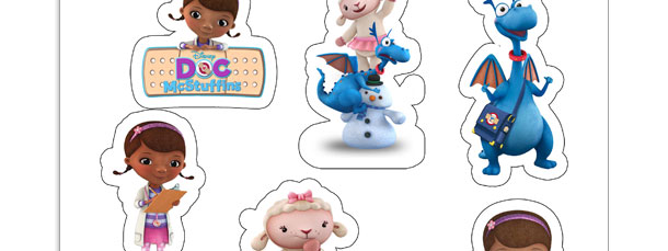 graphic about Printable Doc Mcstuffins named Document McStuffins Stickers Printable