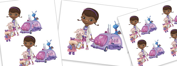 Doc McStuffins with Team Cut Outs