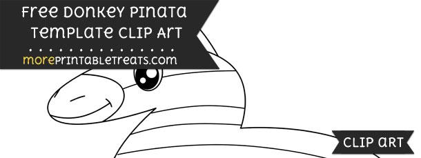 donkey pinata template clipart
