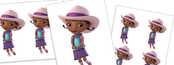 Dottie Doc McStuffins in Cowgirl Outfit Cut Outs